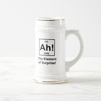 Ah! The Element of Surprise Beer Stein