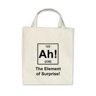 Ah The Element of Surprise Canvas Bag