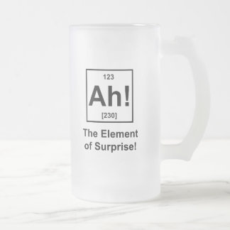 Ah! The Element of Surprise Frosted Glass Mug