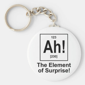 Ah The Element of Surprise Key Chains