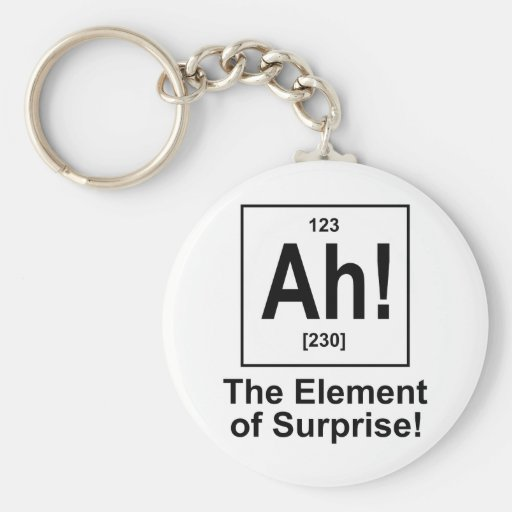 Ah! The Element of Surprise. Key Chains