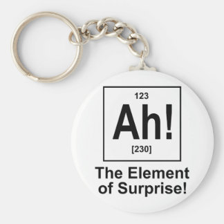 Ah! The Element of Surprise. Key Chain