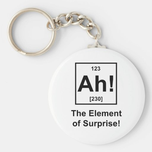 Ah! The Element of Surprise Keychain