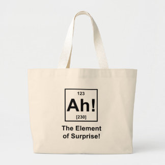 Ah! The Element of Surprise Large Tote Bag
