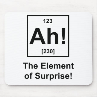 Ah! The Element of Surprise Mouse Mat