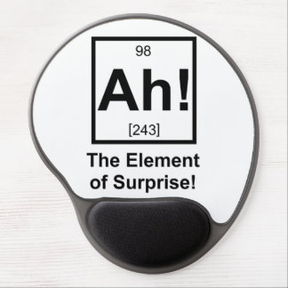 Ah the Element of Surprise Periodic Element Symbol Gel Mouse Pad