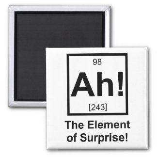 Ah the Element of Surprise Periodic Element Symbol Magnet