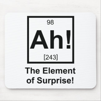 Ah the Element of Surprise Periodic Element Symbol Mouse Mat