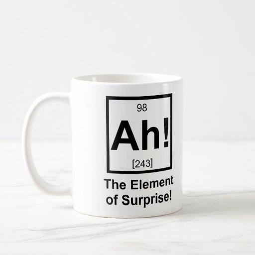 Ah the Element of Surprise Periodic Element Symbol Coffee Mugs