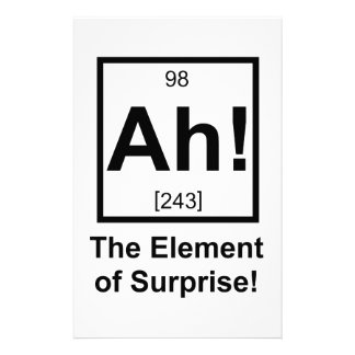Ah the Element of Surprise Periodic Element Symbol Stationery Paper