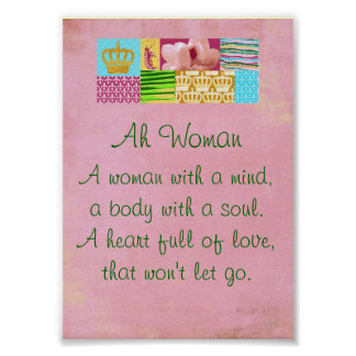 Ah Woman Print