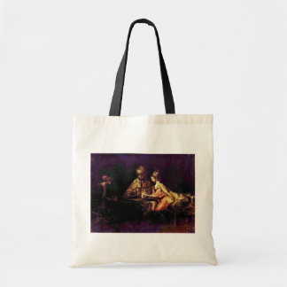 Ahasuerus And Haman At The Feast Of Esther Canvas Bags