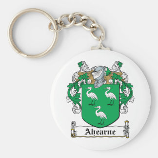 Ahearne Family Crest Basic Round Button Key Ring