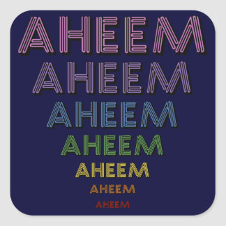 Aheem mantra stickers