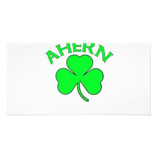 Ahern Irish Flag Custom Photo Card