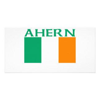 Ahern Irish Flag Photo Card Template