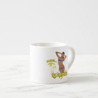 Ahh Summer Beach Bikini Girl Espresso Cup