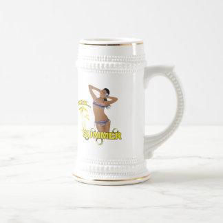 Ahh Summer Beach Bikini Girl Coffee Mug