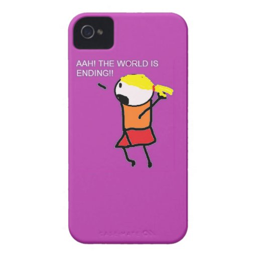 Ahh The World is Ending Case iPhone 4 Case-Mate Cases