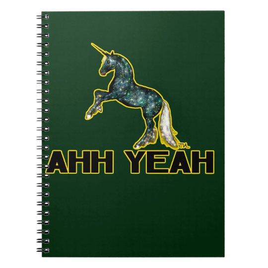 ahh yeah unicorn notebook