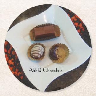 Ahhh! Chocolate de Perú Round Paper Coaster