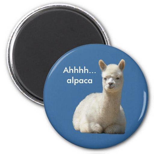 Ahhhh Alpaca Magnet