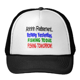 Ahhhh retirement fishing  today.... trucker hats