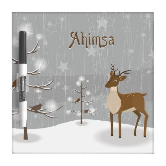 Ahimsa Holiday Dry Erase Board