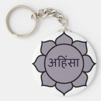 ahimsa (lotus).jpg key ring