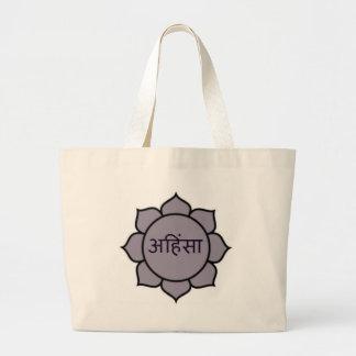 ahimsa (lotus).jpg large tote bag