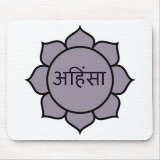 ahimsa (lotus).jpg mouse mat