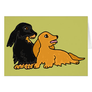 AHL- Longhaired Dachshund Notecards Greeting Card