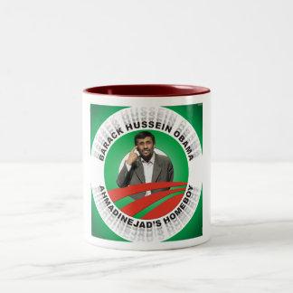 Ahmadinejads Homeboy Two-Tone Mug