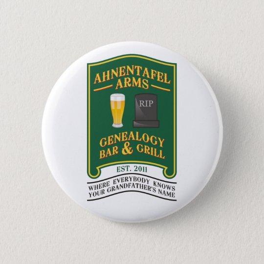 Ahnentafel Arms Genealogy Bar & Grill. 6 Cm Round Badge