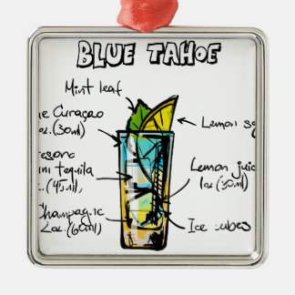 ahoe Blue Cocktail Recipe Christmas Ornament