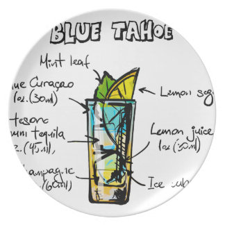ahoe Blue Cocktail Recipe Plate