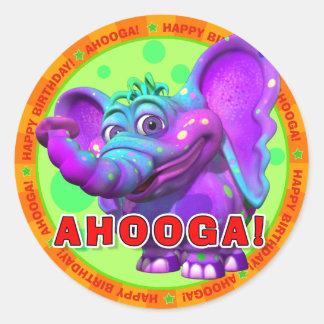 AHOOGA! Birthday Stickers with Peanut