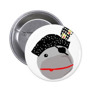 Ahoy! A cute pirate button. 6 Cm Round Badge