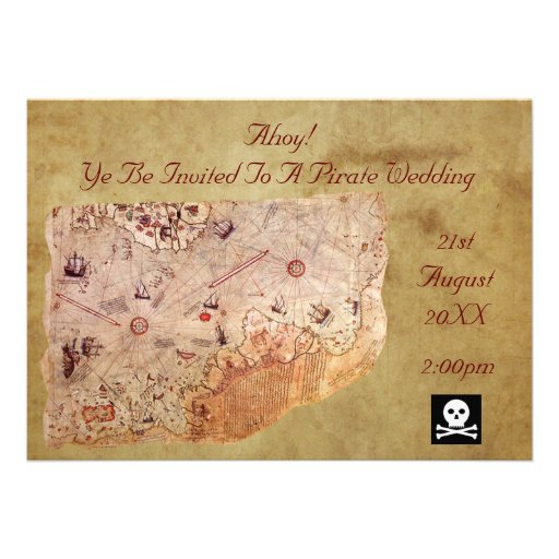 Ahoy! A Pirate Wedding Personalized Announcement