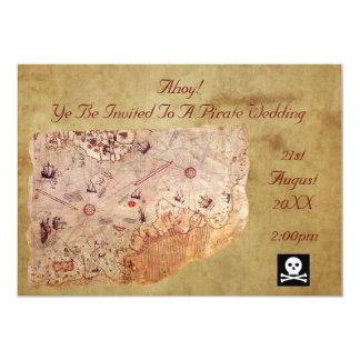 Ahoy! A Pirate Wedding 13 Cm X 18 Cm Invitation Card
