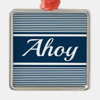 Ahoy Christmas Ornament