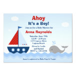 Ahoy Its a Boy Baby Shower Invitation