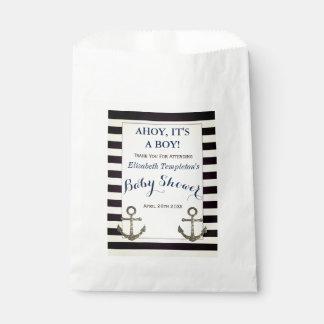 Ahoy It's a Boy Nautical Baby Shower Favor Bags Favour Bags