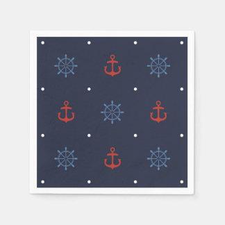 Ahoy It's a Boy Nautical Baby Shower Napkins Paper Serviettes