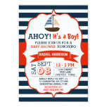 Ahoy It's A Boy! Nautical Boat Baby Shower Invites