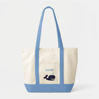 AHOY MATE Blue Whale Diaper Bag Personalized