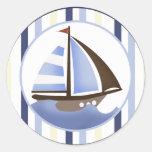 AHOY MATE Sailboat Envelope Seals / Stickers