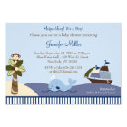 Ahoy Mate Whale Sailboat Baby Shower Invitations