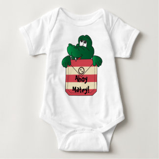 Ahoy Matey Alligator Baby Bodysuit