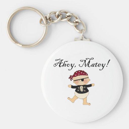 Ahoy Matey Baby Pirate Key Chain Keychains